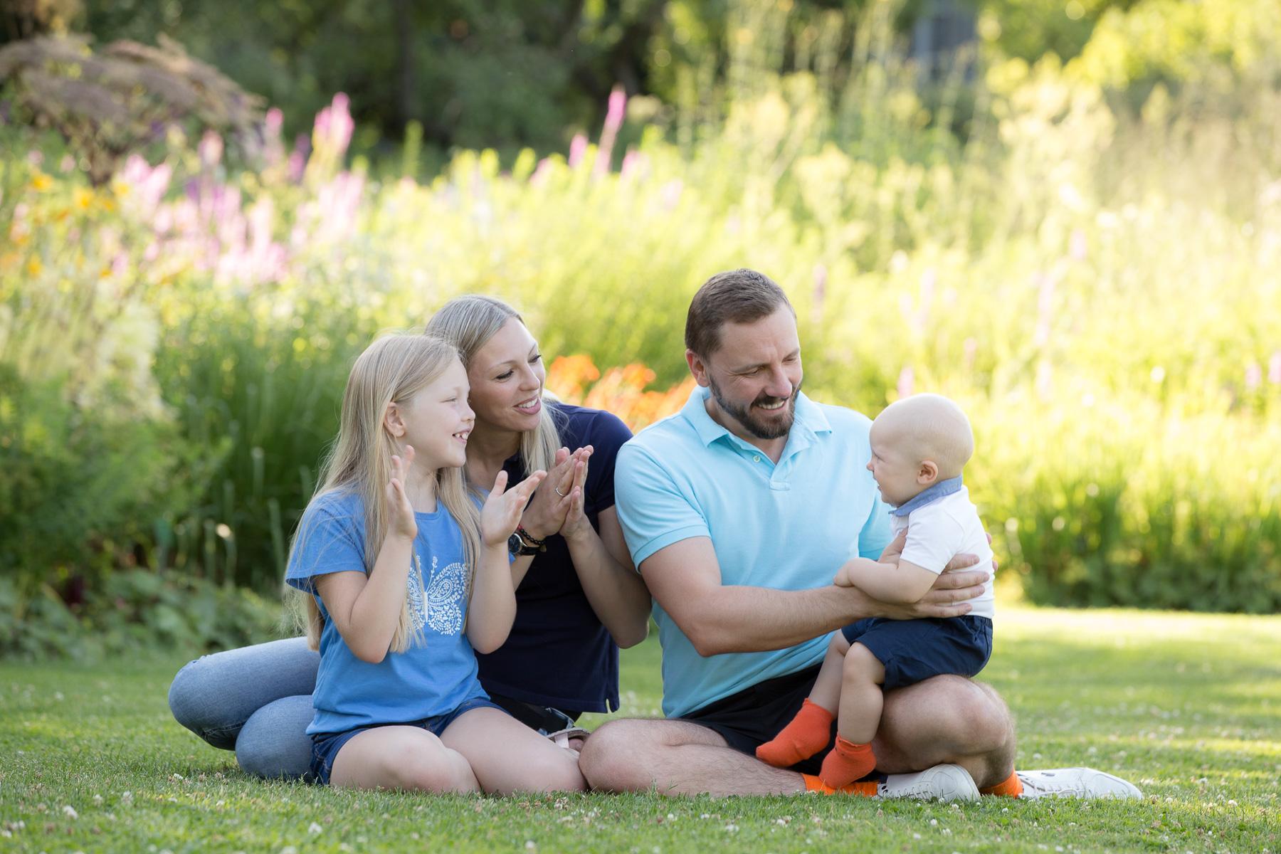 Im Garten des Familienglücks
